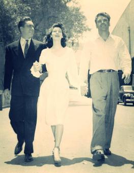 Ava Gardner, Edmond O'Brien e Burt Lancaster durante le riprese di The Killers
