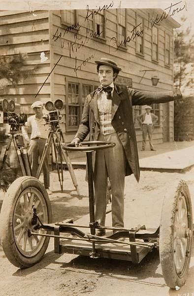 Buster Keaton sul primo Segway