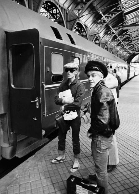 David Bowie e Iggy Pop, stazione ferroviaria di Copenhagen, 1976