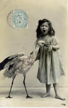 Primi del 1900, cartolina francese