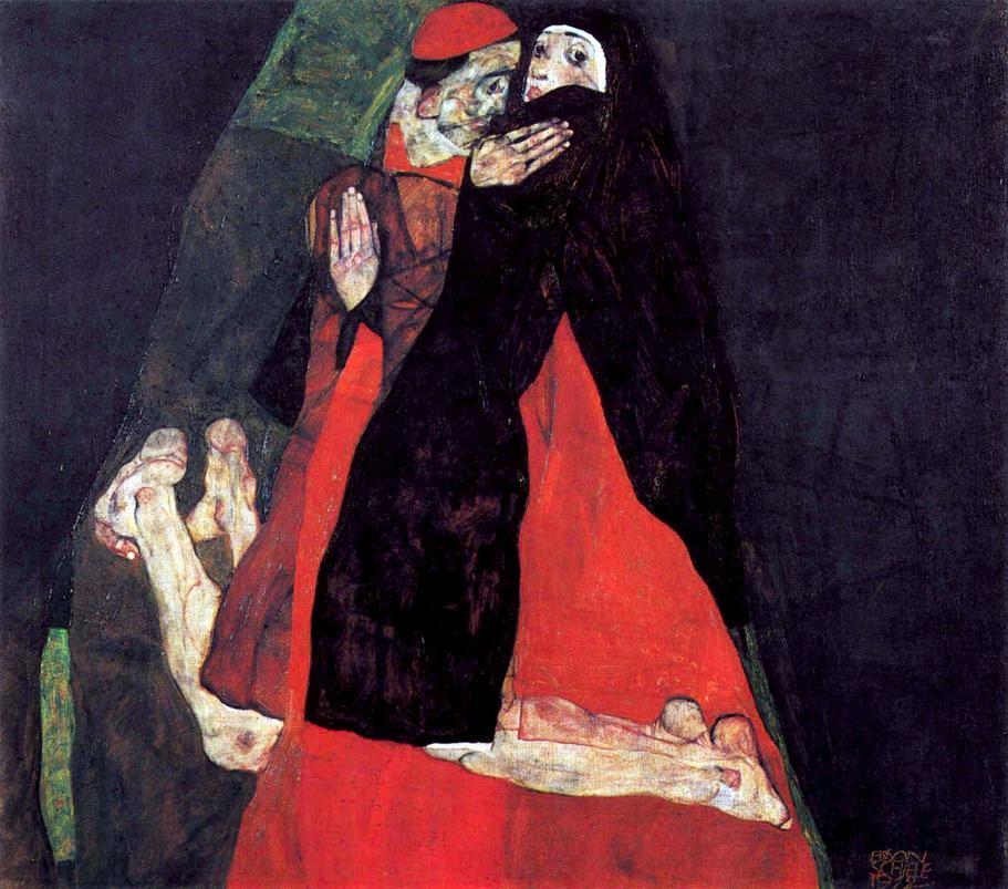 Egon Schiele - Cardinale e Suora, 1912