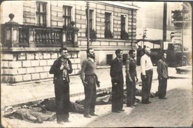 Esecuzione di ribelli durante l'occupazione tedesca della Polonia nella Seconda Guerra Mondiale. Data sconosciuta
