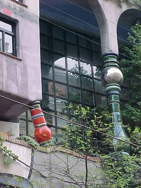 Hundertwasserhaus Vienna, dettaglio