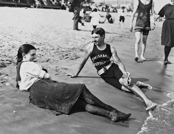 Istruttore e bagnante, Midland Beach, Staten Island, 1898