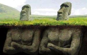 Isola di Pasqua - (Ricostruzione) Statue Moai