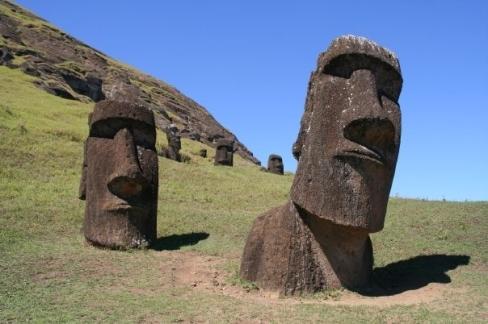 Isola di Pasqua - Statue moai