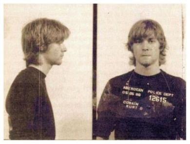 Foto segnaletica di Kurt Cobain