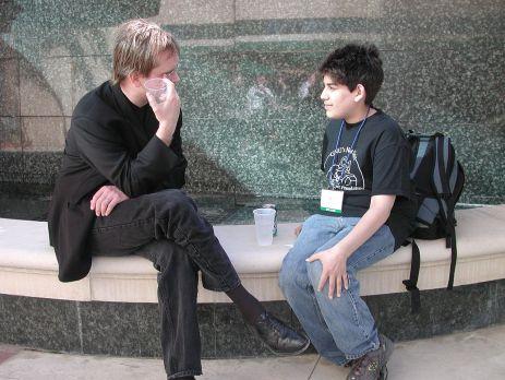 Lawrence Lessig e Aaron Swartz