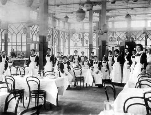 Lyons Tea Shop, Londra, 1890