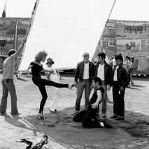 Olivia Newton-John e John Travolta sul set di Grease, 1978
