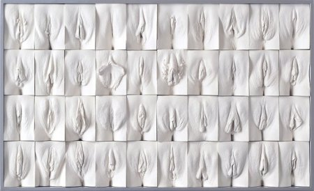 """The Great Wall of Vagina"" dell'artista inglese Jamie McCartney"