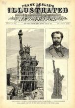 1885- La Statua della Libertà arriva a New York a bordo della nave francese Isere