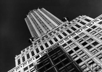 Vista del Chrysler Building, New York, 1937 - Foto di Margaret Bourke-White