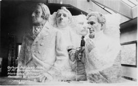 Il progetto originale del Mt. Rushmore. Circa. 1940