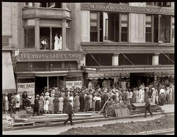 Young Women at a Fire Sale, 1922