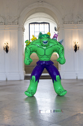 Hulk (Friends) di Jeff Koons