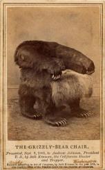 Sedia fatta di orso grizzly, 1865