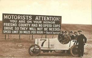 1920 - cartello di limite di velocità
