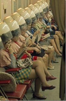 Salone per capelli nel 1960