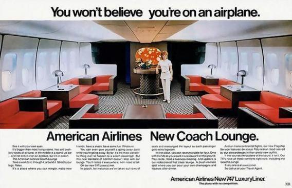 1971 - Pubblicità della American Airlines