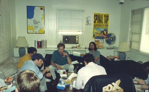 """La sala di scrittura de """"I Simpson"""", 1992"""