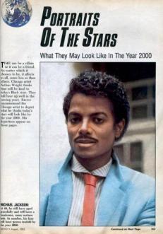 Una previsione del 1985 di ciò che sarebbe diventato Michael Jackson nel 2000