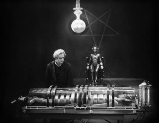 Una pubblicità per Metropolis, 1927, diretto da Fritz Lang
