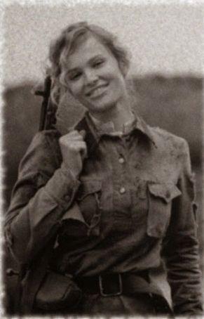 Una combattente partigiana jugoslava - Seconda guerra mondiale
