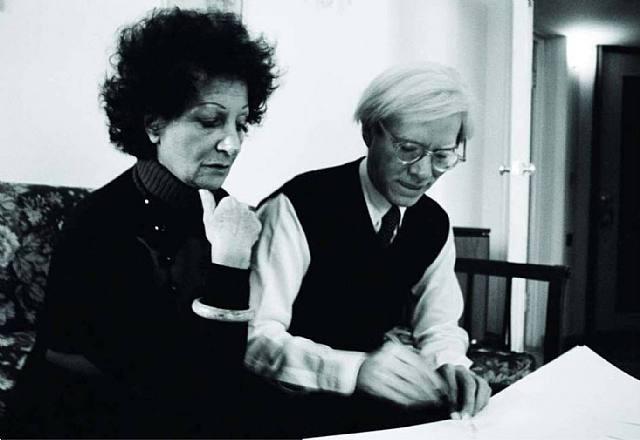 Andy Warhol e Carol Rama, 1975