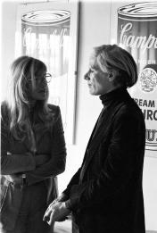 Andy Warhol e Monica Vitti – Fotografia di Elisabetta Catalano