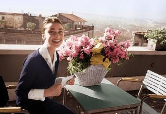 Audrey Hepburn a Roma, 1960. Foto di Luca Dotti (figlio di Audrey)