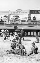 Passerella sulla spiaggia, Atlantic City, circa 1904