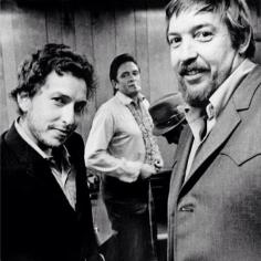 Bob Dylan, il produttore Bob Johnston e Johnny Cash, Nashville 1969