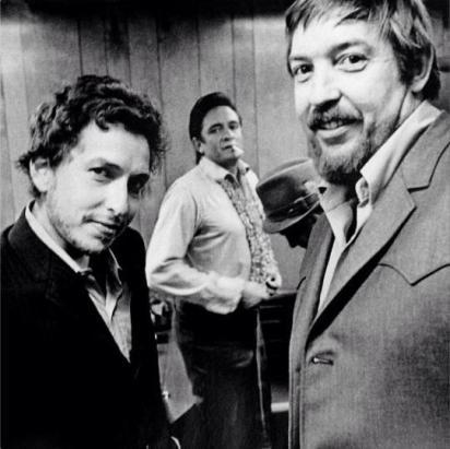 Bob Dylan, il produttore Bob Johnston e Johnny Cash, Nashville 1969