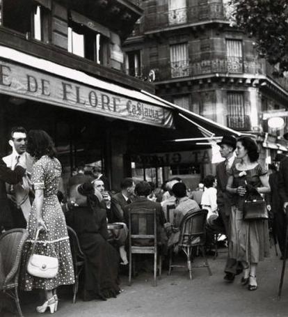 Café de Flore, Parigi, 1949