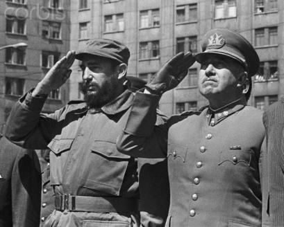Castro e Pinochet, Santiago de Chile, nov 1971