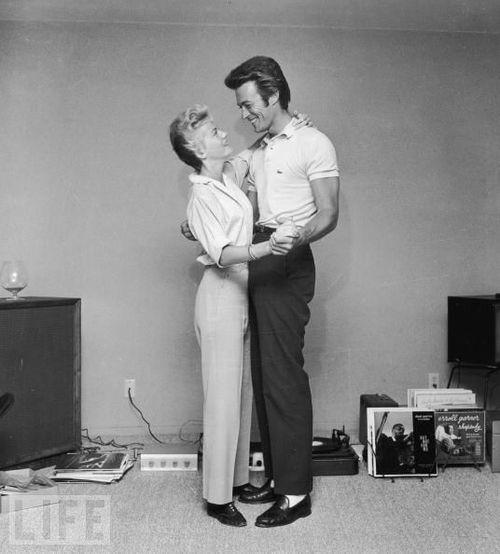 Clint Eastwood e la sua prima moglie Maggie