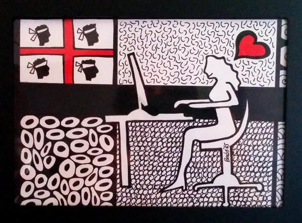 Colorminazione illustrata - Pannello - step 1