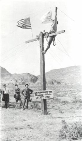 Completamento della linea telefonica transcontinentale, Wendover, Utah 1914