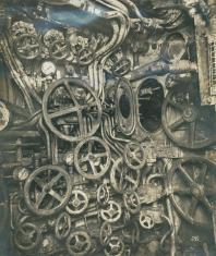 Sala di controllo del sottomarino tedesco UB-110, 1918