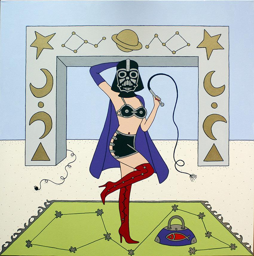 Giampaolo Atzeni - Dart Woman Fener 2013, acrilico su tela 100 x 100
