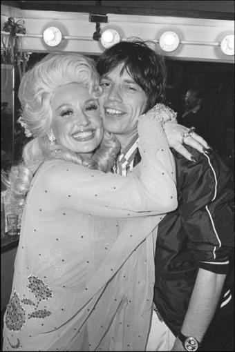 Dolly Parton e Mick Jagger