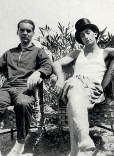 Federico Garcia Lorca con Salvador Dali