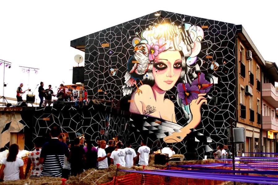 Il nuovo murale di Giorgio Casu a San Gavino Monreale
