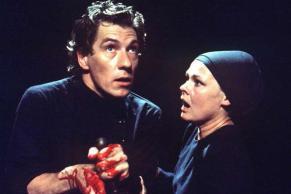 Ian McKellen come Macbeth in una produzione del 1976