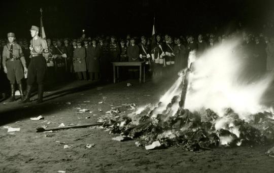Nel maggio 1933, l'Unione degli studenti tedeschi bruciò pubblicamente pile di libri che ritenevano 'Un-German' in 21 città