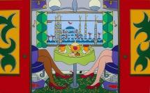Giampaolo Atzeni - Istambul 2012, acrilico su tela 100 x 150