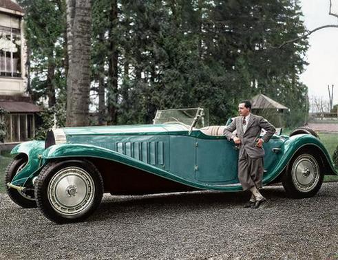 Jean Bugatti con la Bugatti Royale 'Esders' Roadster 1932