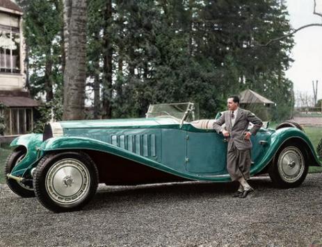 Jean Bugatti con la Bugatti Royale 'Esders' Roadster, 1932