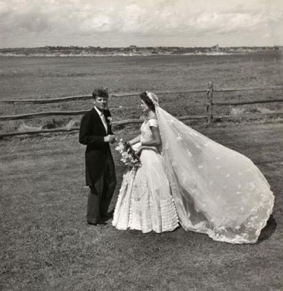 John F. Kennedy e Jackie O. il giorno del loro matrimonio